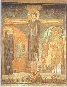 Ancient Icon of Jesus on the Cross